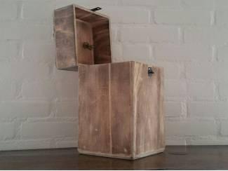Houten opberg box kist