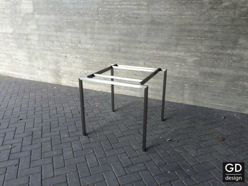 Mooie Steigerhouten Eettafel.Mooi Rvs Design Tafelonderstel Voor Moderne Eettafel Tafels