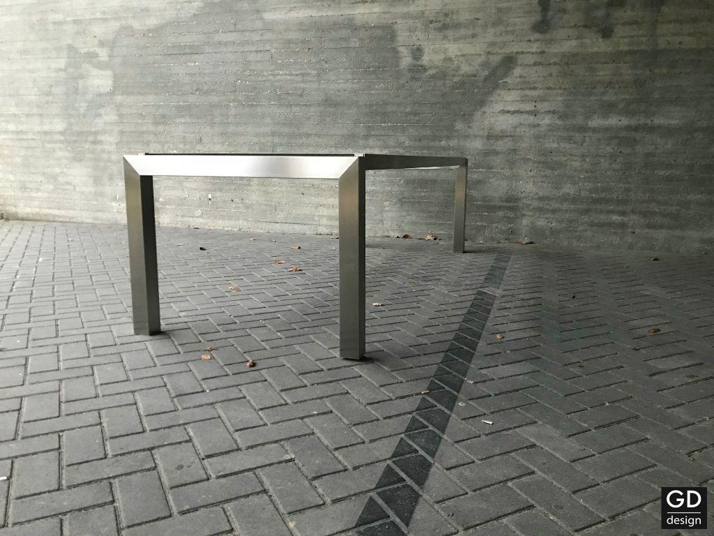 Verbazingwekkend Modern tuintafel onderstel / tafelpoten rvs design op maat OM-78