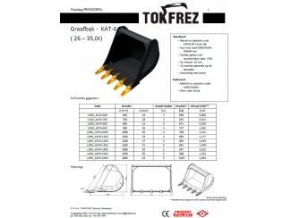 Graafbak model Tokfrez. Slotenbak, ripper, grijper