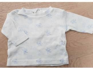 Wit konijntjes shirtje 56 (n474)