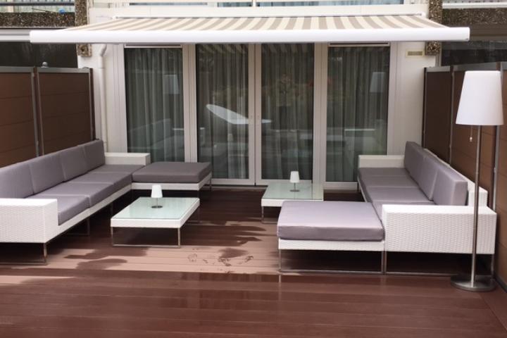 Lounge Bank Tuin : Loungeset design lounge bank terras tuin wit wicker nieuw