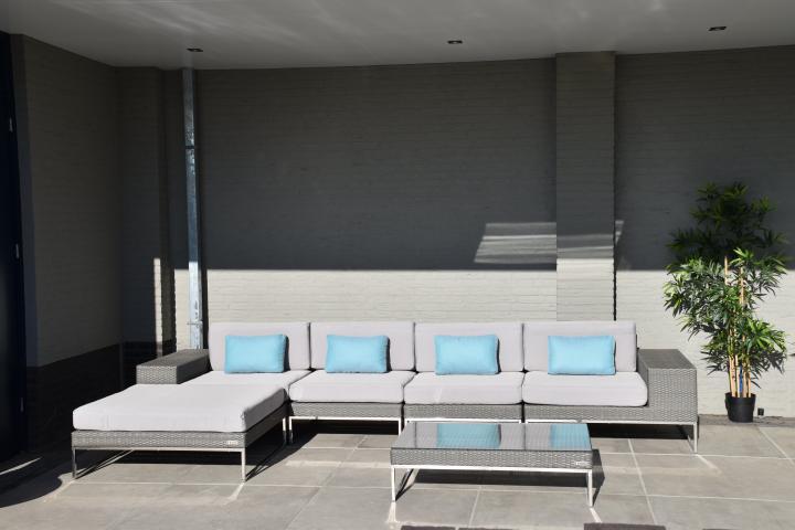 Lounge Bank Tuin : Loungeset design lounge bank terras tuin plat grijs wicker nieuw