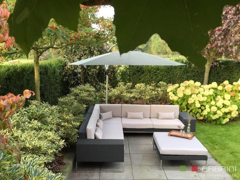 Design Lounge Tuin Bank.Loungeset Design Lounge Hoek Bank Terras Tuin Zwart Wicker Nieuw