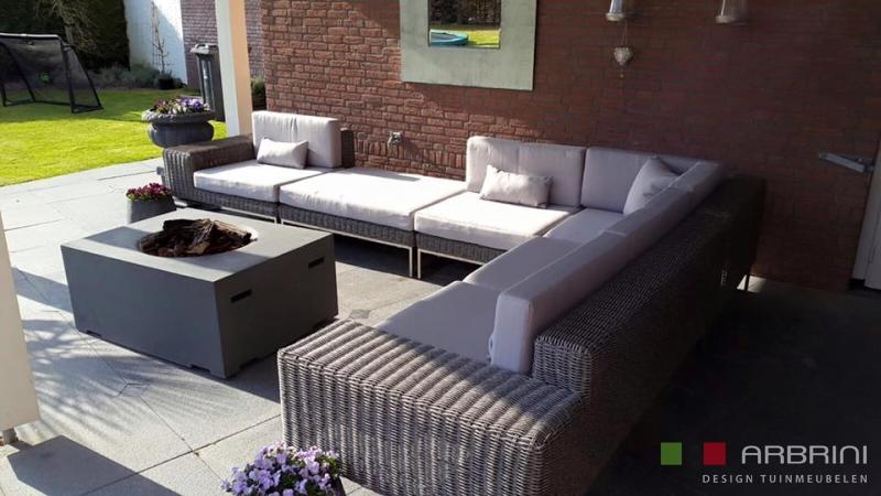 Design Lounge Tuin Bank.Loungeset Design Lounge Hoek Bank Terras Tuin Grijs Wicker Nieuw