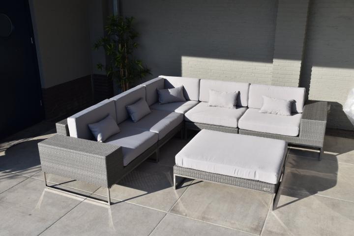 Hoek Loungeset Grijs.Loungeset Design Lounge Hoek Bank Terras Tuin Grijs Nieuw