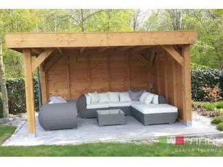 Loungeset lounche set terras tuin grijs wicker nieuw.