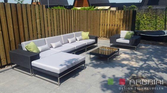 Luxe Loungeset Zwart.Loungeset Design Loungebank Met Stoel Zwart Wicker Nieuw Tuinmeubelen