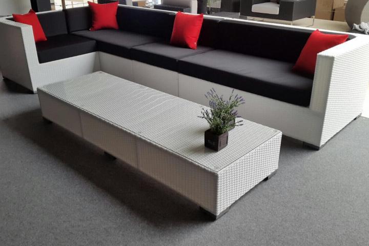 Design Bank Wit.Loungeset Design Lounche Hoek Bank Wit Met Tafel Nieuw Tuinmeubelen