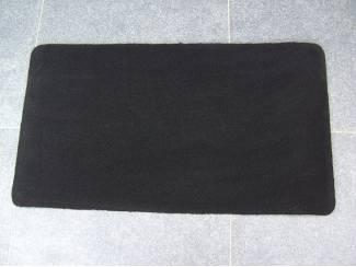 MAT VLOERMAT ZWART 90X50 cm 4 stuks Nieuw