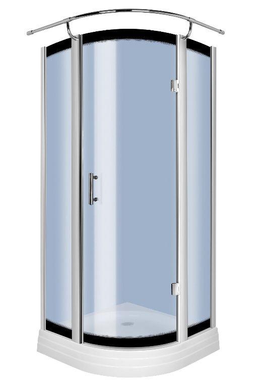 Sanifun douchecabine Renan 90 x 90 blauw glas.