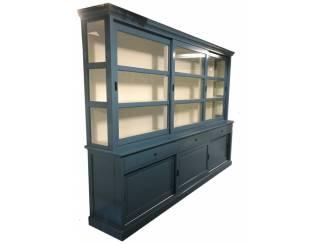Buffetkast oud blauw 310 x 50/40 x 220cm