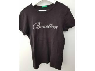 Zwarte Benetton T-shirt 134 (n1611)