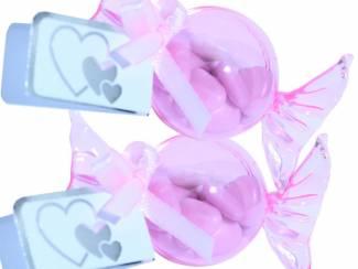 Feestartikelen Jarig bedankjes Trakteren op sleutelhangers met snoepbal