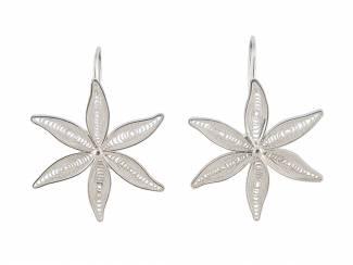 Peruaanse zilveren filigrain oorbellen in bloemvorm