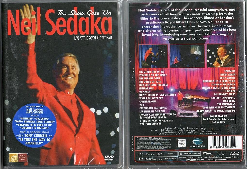 NIEL SEDAKA THE SHOW GOES ON NIEUW DVD 5034504959576