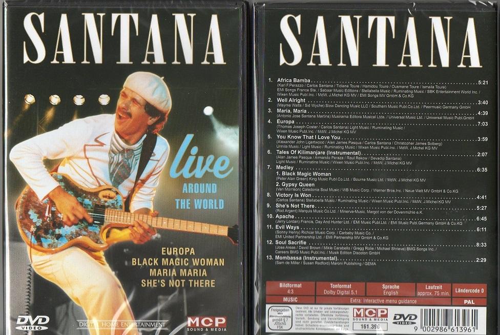 SANTANA LIVE AROUND THE WORLD NIEUWE DVD 9002986613961