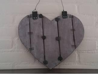 Houten magneetbord hart hanger