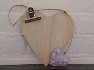 Houten klembord hart