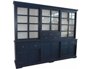 Buffetkast blauw - wit 285 x 55/45 x 235cm