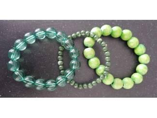 3x groene armband (1123)