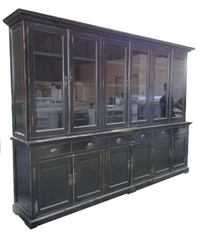 Landelijke Buffetkast Zwart Geschuurd 310 X 220cm Kasten
