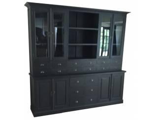 Buffetkast 18 laden zwart - zwart 250 x 50/40 x 220cm