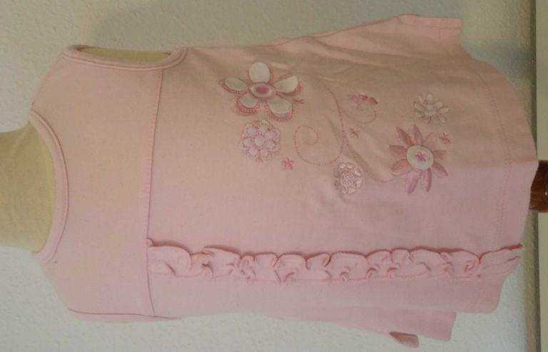 Roze jurk met bloemetjes 56 (n458)