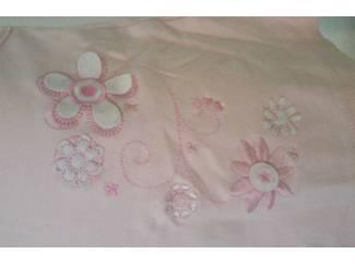Babykleding Roze jurk met bloemetjes 56 (n458)