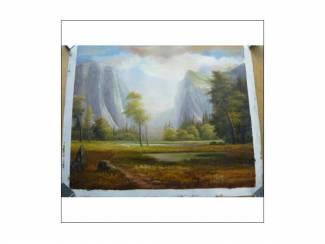 OLIEVERF SCHILDERIJ BERGLANDSCHAP 52x63 cm Nieuw