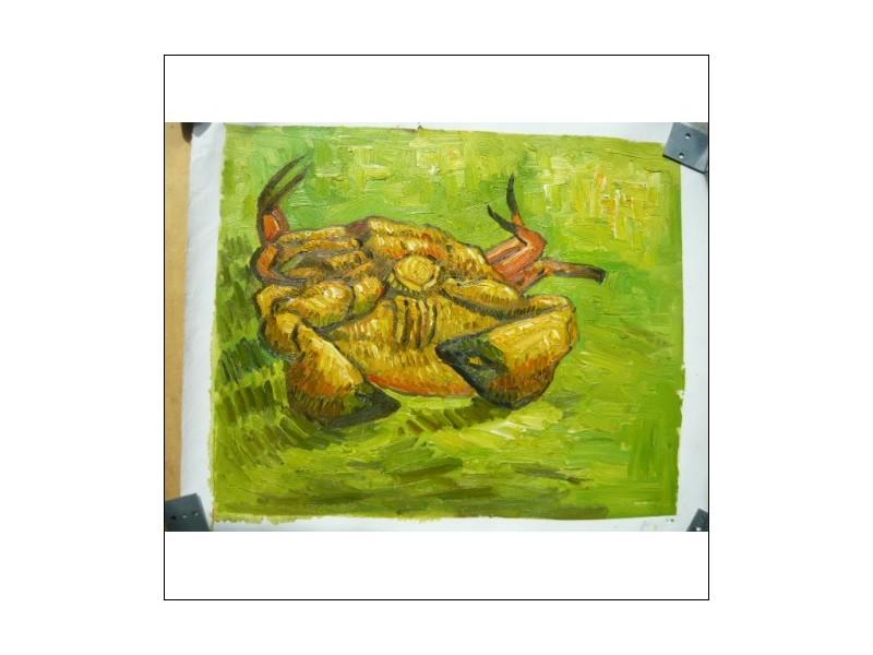 OLIEVERF SCHILDERIJ KRAB 42x51 cm Nieuw