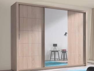 Kasten en Dressoirs ACTIE Kledingkast 250 cm met spiegel diverse kleuren NU 499 NIEUW