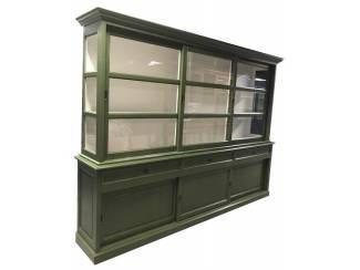 Buffetkast Sneek Olijf groen - wit 300 x 50/40 x 220cm