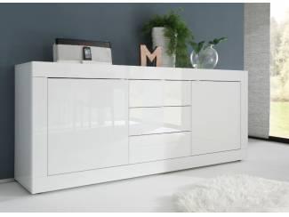 ACTIE Hoogglans wit dressoir Basic met laden NU 369,- NIEUW