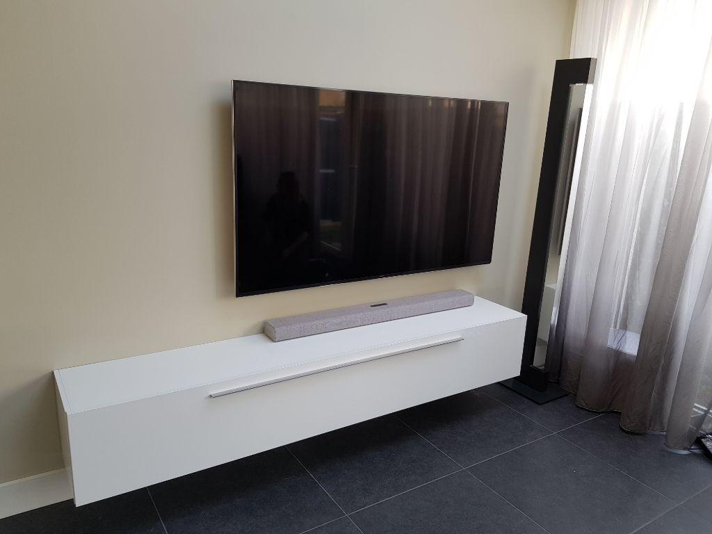 Design Tv Meubel Tweedehands.Actie Volledig Hoogglans Wit Zwevend Tv Meubel 210 Cm Nu 229