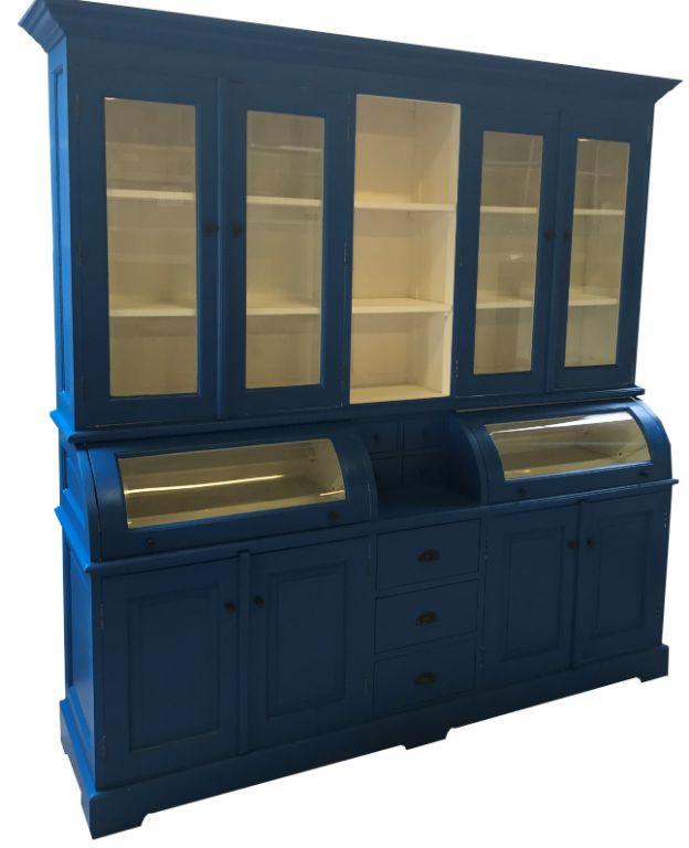 Buffetkast Blauw Gespoten 200 X 5035 X 210cm Bolle Kleppen