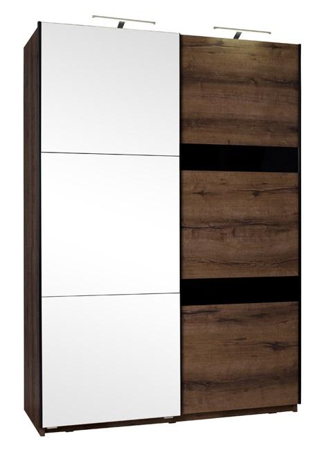 Kledingkast 150 Cm.Actie Moderne Kledingkast Met Spiegel Denver 150 Cm Div Kleuren