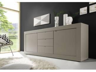 ACTIE Modern mat taupe dressoir Basic met laden NU 369,- NIEUW