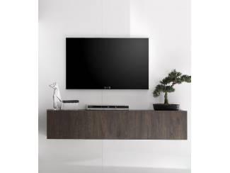 ACTIE Modern zwevend tv-meubel 140 cm eiken, wengé, grijs eiken