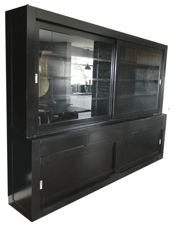 Buffetkast design soft close zwart - zwart 300 x 220cm