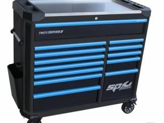 TECH SERIE gereedschapwagen leeg zwart/blauw 13 laden