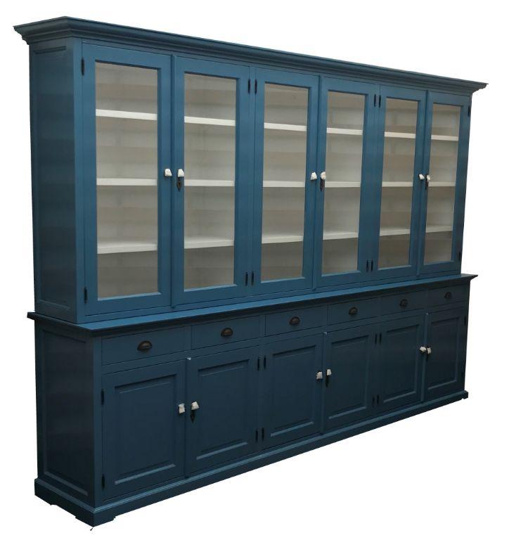 Buffetkast Mega Heesch Oud Blauw Wit 310 X 5040 X 220cm