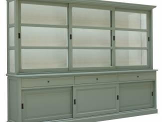 Buffetkast Uden engels groen - wit 300 x 50/40 x 220cm