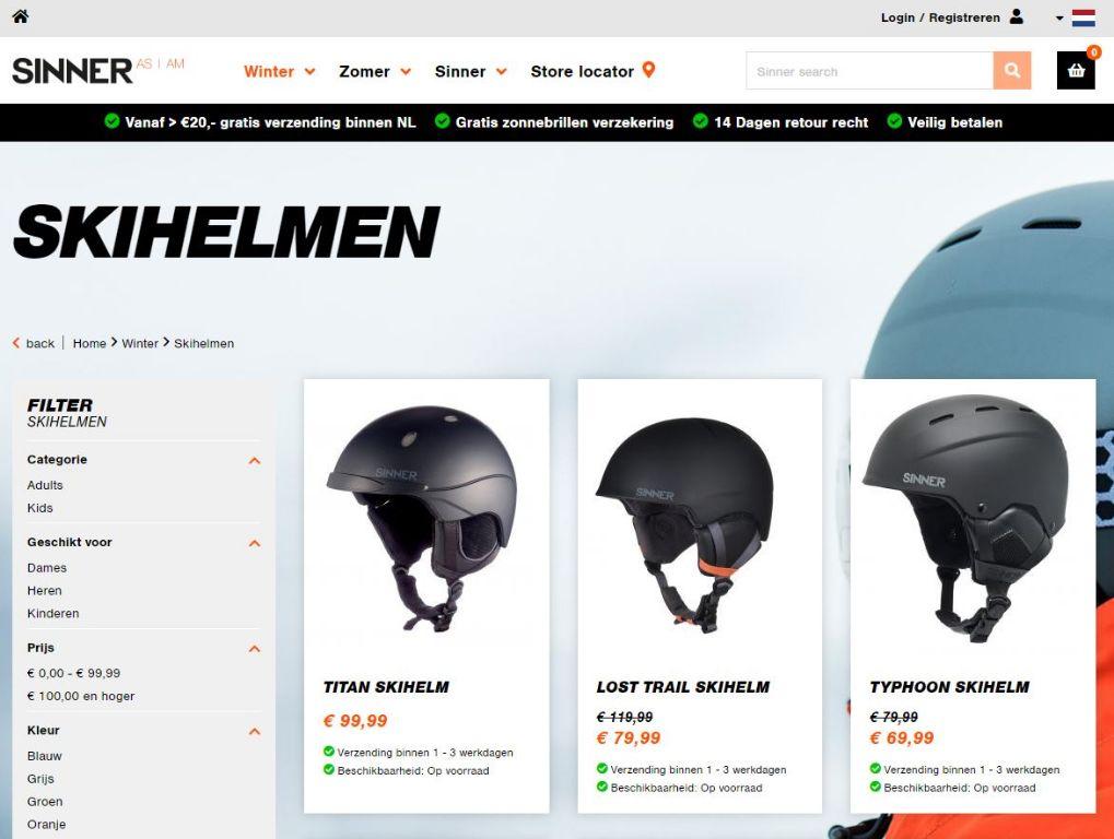 Snowboard helmen van Sinner