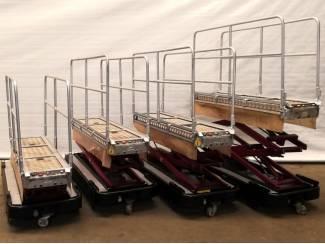 4 elektro buisrailwagens dubbel hydr. spoor 60