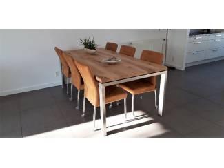 Eiken tafel met rvs poten op maat laten maken?