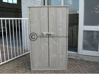 Steigerhouten hoge tuinkast met deuren
