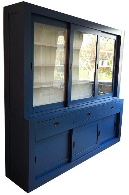 Design Stoelen Enschede.Buffetkast Enschede Blauw 240 X 220cm Greeploze Laden Kasten En