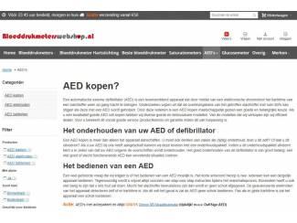 Automatische externe defibrillator (AED) kopen