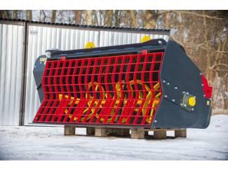 Betonmixer voor de front loader, ook zeeftrommel, veegmachine